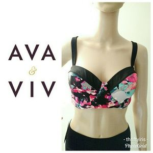 Ava & Viv Colorful Swimsuit Top-Size 16W👙